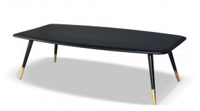 RODEO stylowa ława z litego drewna dębowego w kolorze czarnym