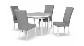T10 okrągły rozkładany stół drewniany do salonu