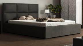 PALMA łoże sypialne z pikowanym oparciem