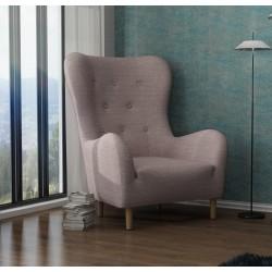 BENITO tapicerowany stylowy fotel uszak