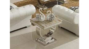 Stolik kawowy CHX 890 GLAMOUR, stal nierdzewna, szklany blat lub marmur