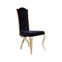 Krzesło barokowe GLAMOUR CHX213, stal szlachetna, tkanina Velvet