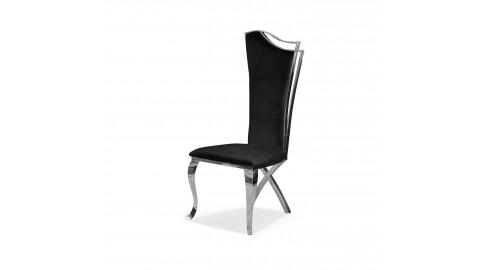 Krzesło GLAMOUR CHX1503, stal polerowana, tkanina Velvet