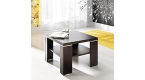 KWADRAT elegancki mały stolik z półką