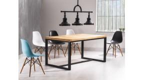 LORAS oryginalny stół pokojowy połączenie drewna i metalu