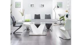 ALARAS II oryginalny stół rozkładany w kolorze czarny / biały lakier