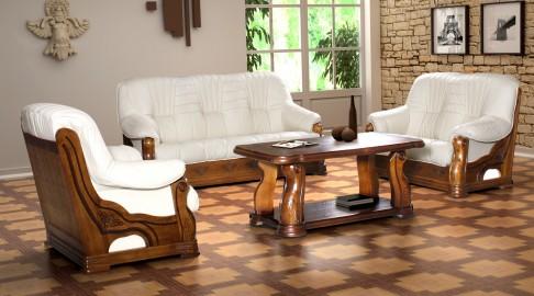 ALBERTO 3-2-1 stylowy rustykalny zestaw wypoczynkowy