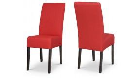 OVI nowoczesne tapicerowane krzesło z profilowanym oparciem