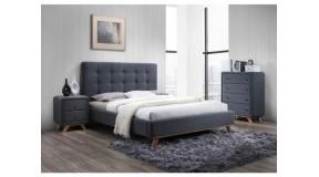 MELISSA nowoczesne łóżko sypialniane 160x200 tapicerowane tkaniną