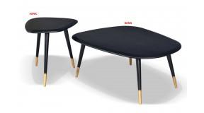 SONIC nowoczesny stolik kawowy z drewna dębowego w kolorze czarnym