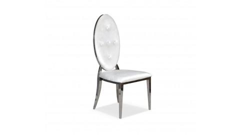 Krzesło GLAMOUR CHX1269, stal nierdzewna, tkanina Velvet