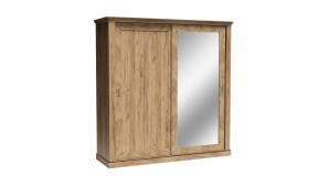 Szafa przesuwna dwudrzwiowa pojemna z lustrem i szufladami ANTICA A-211