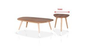 SONIC stylowy stolik kawowy z drewna dębowego