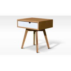 IMBIR 1SZ BIAŁY nowoczesny drewniany stolik nocny