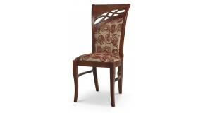 C54 drewniane profilowane tapicerowane krzesło do jadalni