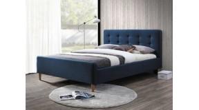 PINKO eleganckie łóżko sypialniane 160x200 tapicerowane tkaniną